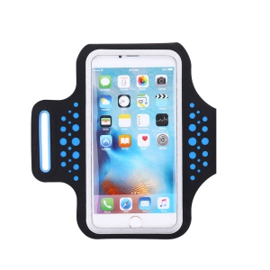JOYROOM CY139 Touchable Thin Sports Armband Pouch for iPhone 7 Plus, Phone under 5.5 inch - Blue