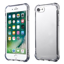Drop-resistant TPU Edges Clear Acrílico caso do telefone para iPhone 8/7 4.7 polegadas - transparente