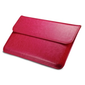 ICARER Genuine Leather Pouch Protective Case for Macbook Air 11 Inch - Rose