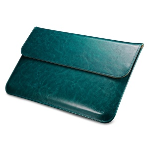 ICARER Genuine Leather Magnetic Pouch Case for 13.3-inch Apple MacBook - Green