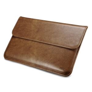 ICARER Genuine Leather Sleeve Case for MacBook Air 13.3-inch/iPad Pro 12.9 - Brown