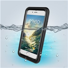 Fingerprint Identification IP68 Waterproof Case Cover for iPhone 8 / 7 4.7 - Black