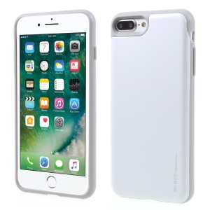 MERCURY GOOSPERY for iPhone 7 Plus Sky Slide PC TPU Phone Case with Card Slot - White