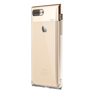 ROCK Crystal Series for iPhone 8 Plus / 7 Plus 5.5 inch Plating Hybrid PC + TPU Shell - Gold