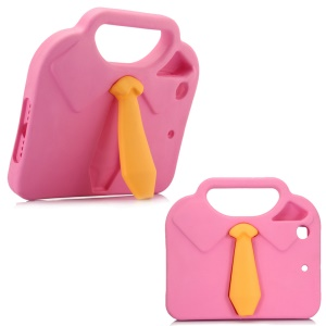 3D Shirt Tie EVA Kids Handle Cover with Kickstand for iPad mini 4/3/2/1 - Pink