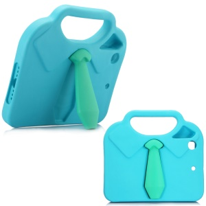 3D Shirt Tie Kids EVA Case Cover with Handle Stand for iPad mini 4/3/2/1 - Blue