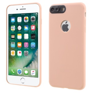 Plastic Camera Protection Soft TPU Gel Case for iPhone 7 Plus - Pink