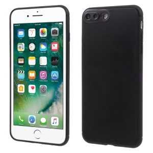Plastic Camera Protection Soft TPU Case for iPhone 7 Plus - Black