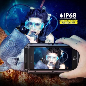 IP68 Waterproof Dustproof Drop-resistant Anti-explosion Full Protection Case for iPhone 7 Plus - Black