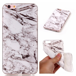 Textura de mármore IMD Soft TPU Phone Shell para iPhone 6s Plus / 6 Plus - cinza