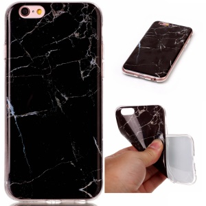Marble Pattern IMD TPU Phone Case for iPhone 6s/6 4.7-inch - Black