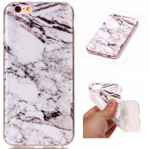 Marble Pattern IMD TPU Phone Shell for iPhone 6s/6 4.7-inch - White