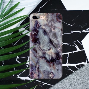 Marble Pattern IMD TPU Cellphone Case for iPhone 8 Plus / 7 Plus 5.5 inch - Black Blue