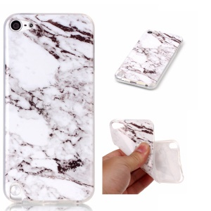 For Apple iPod Touch 6 Marble Pattern IMD TPU Case Accessory - White