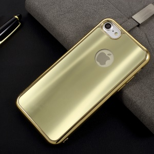 Electroplated Dazzling TPU Soft Mobile Cover for iPhone 8 / iPhone 7 4.7 inch - Gold