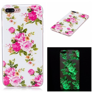 Luminous IMD TPU Phone Accessory Case for iPhone 8 Plus / 7 Plus 5.5 inch - Blooming Peonies