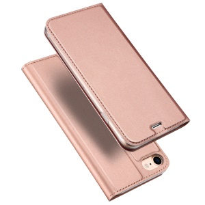 DUX DUCIS Skin Pro Series for iPhone SE (2nd generation)/8/7 4.7 inch Business Leather Stand Phone Cover - Rose Gold
