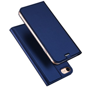 DUX DUCIS Skin Pro Series for iPhone 8 / 7 4.7 inch Business Leather Card Slot Phone Casing - Dark Blue