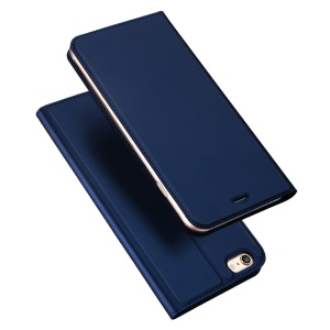 DUX DUCIS Skin Pro Series Cellphone Case for iPhone 6s Plus/6 Plus Leather Magnetic Folio Shell Cover - Dark Blue