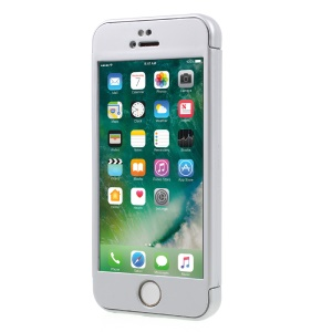 2-in-1 Full Protection PC Hard Cover + Tempered Glass Screen Film for iPhone SE / 5s / 5 - Silver