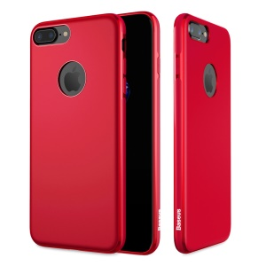 BASEUS Mystery Case for iPhone 7 Plus Soft TPU Phone Shell Casing Built-in Magnetic Holder Metal Sheet - Red