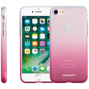 MOMAX Crystal Clear Phone Cover for iPhone 8/7 4.7 inch (PC + TPU) - Gradient Pink