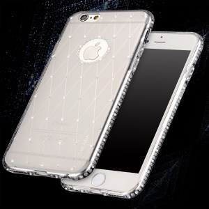SULADA Rhinestone Decoration Cell Phone Case (TPU) for iPhone 6s / 6 4.7-inch -  Transparent