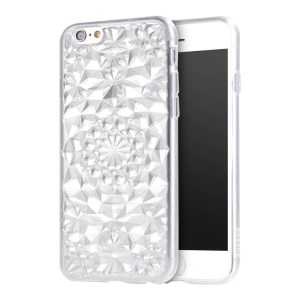 SULADA 3D Diamond Pattern Glittery TPU Cell Phone Case for iPhone 6s 6 - White