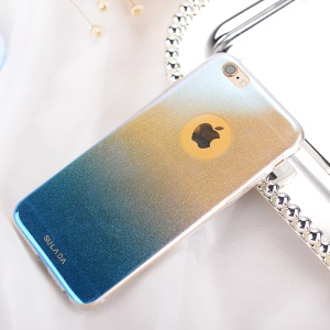 SULADA Blue-ray Gradient Color TPU Mobile Phone Shell for iPhone 6s/6 4.7-inch - Blue