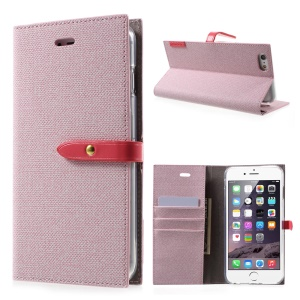 MERCURY GOOSPERY Milano Diary Wallet Leather Phone Case for iPhone 6s 6 4.7 inch - Pink