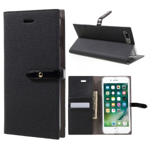 MERCURY GOOSPERY Milano Diary for iPhone 7 Plus 5.5 Wallet Leather Case Phone Cover - Black