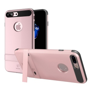 BASEUS for iPhone 7 Plus iBracket Mobile Phone Case with Kickstand (PC + TPU Hybrid) - Rose Gold