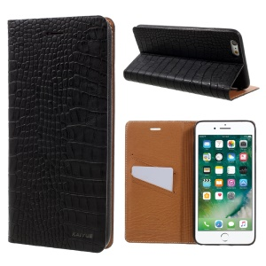 KAIYUE Auto-absorbed Crocodile Leather Case Accessory for iPhone 6s/6 4.7 inch - Black