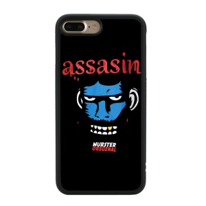 Funny Pattern Glossy TPU Cellphone Case for iPhone 8 Plus / 7 Plus 5.5 inch - Murder