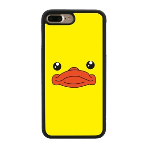 Cartoon Pattern Glossy TPU Phone Case for iPhone 7 Plus 5.5 inch - Duck