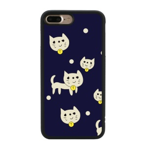 Glossy Cartoon Pattern TPU Mobile Phone Cover for iPhone 8 Plus / 7 Plus 5.5 inch - Cats