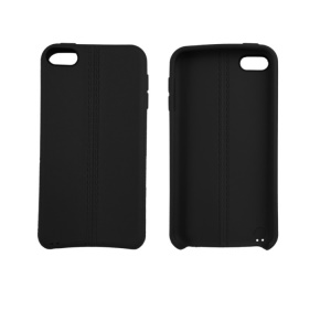 Frosted Soft TPU Phone Case for iPod Touch 6/5 with Woven Strap - Black