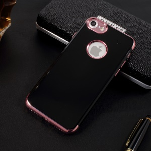 X-FITTED Plating Glossy Soft TPU Mobile Cover for iPhone 8 / iPhone 7 4.7 inch - Rose Gold