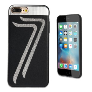 KLD Leather Coated TPU Phone Case Cover for iPhone 7 Plus 5.5 Inch - Black