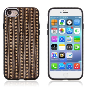 Personalized Hybrid PC TPU Phone Case for iPhone 7 Plus Built-in Magnetic Holder Metal Sheet - Bohemian Style Pattern