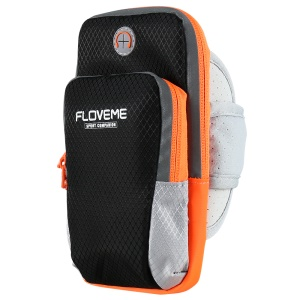 FLOVEME Running Sport Bag Armband for iPhone 8 Plus/7 Plus/6s Plus/6 Plus - Black