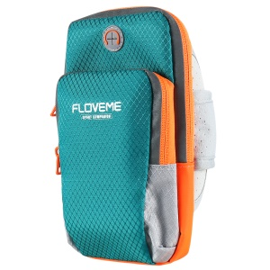 FLOVEME PU Leather Sports Armband Arm Bag para iPhone 8 Plus / 7 Plus / 6s Plus / 6 Plus - azul