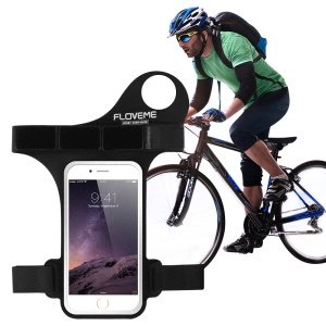 FLOVEME Fitness Exercise Armband Pouch for iPhone 8 Plus/7 Plus / 6s Plus / 6 Plus with Thumb-Closure - Black