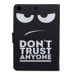 Pattern Printing Leather Wallet Phone Case for iPad Mini 3/2/1 - Do Not Trust Anyone