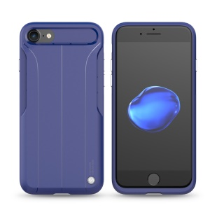 NILLKIN Creative Amplifier Case TPU PC Back Phone Cover for iPhone 7/8/SE 2 (2020) with Built-in Metal Sheet - Blue