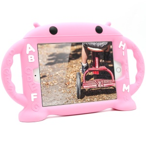 3D Fun Cartoon Robot Shockproof Silicone Protective Stand Case for iPad Mini 3 2 1 - Pink
