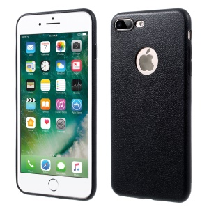 OUCASE At Ease Series Litchi Grain TPU Back Case for iPhone 7 Plus 5.5 Inch - Black
