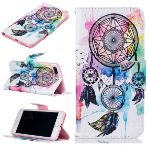 Patterned Wallet Leather Mobile Casing Case for iPhone 8 Plus / 7 Plus 5.5 - Dream Catcher