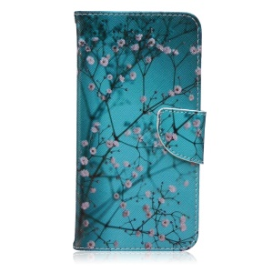 Wallet Leather Stand Case for iPhone 6s Plus / 6 Plus - Tree with Flowers