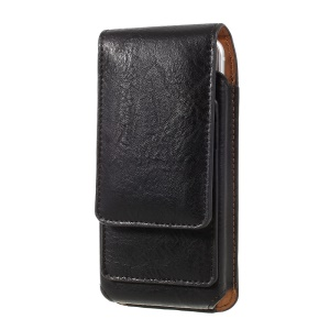 Elephant Texture Vertical Leather Holster Case with 2 Card Slots for iPhone 8 7 6s 6, Inner Size: 14.5x7x1cm - Black